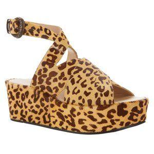 Sheryl Crow Roady Leather Wedge Platform Sandal 10